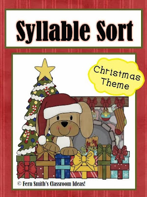http://www.teacherspayteachers.com/Product/Syllable-Sort-Christmas-Puppies-Themed-Center-Game-for-Common-Core-716802