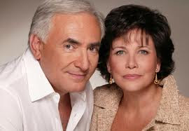 head shot of Dominique Strauss-Kahn and Anne Sinclair