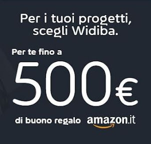WIDIBA regala BUONO AMAZON € 100-300-500!