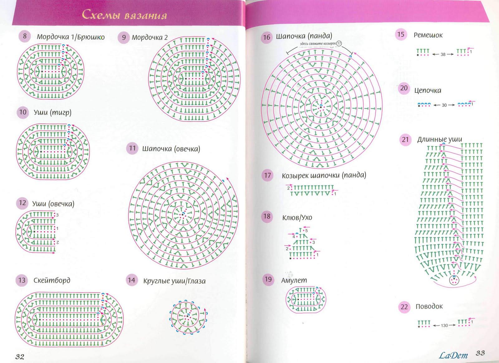 Схема вязального крючка