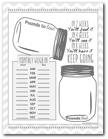weight loss planner printable thevillas co