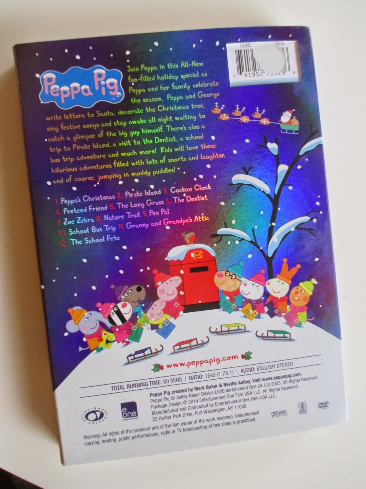 peppa pig peppa s christmas dvd and bonus dvd review and giveway