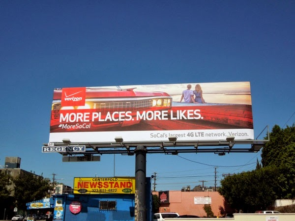 Verizon More places More likes billboard
