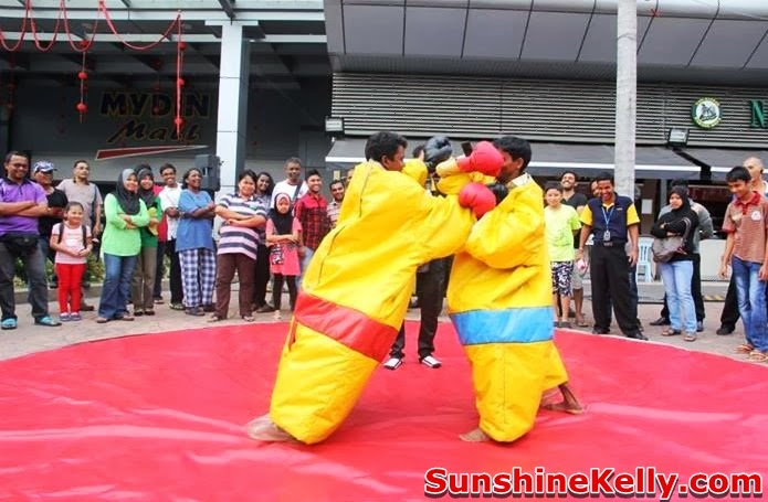 Chinese New Year Carnival @ Mydin Mall USJ, Chinese New Year Carnival, Mydin Mall, USJ, sumo challenge