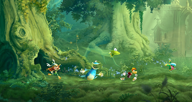 Screenshot of the Jungle Level in Rayman Legends