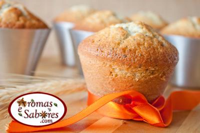 Muffins de limão com sementes de papoula