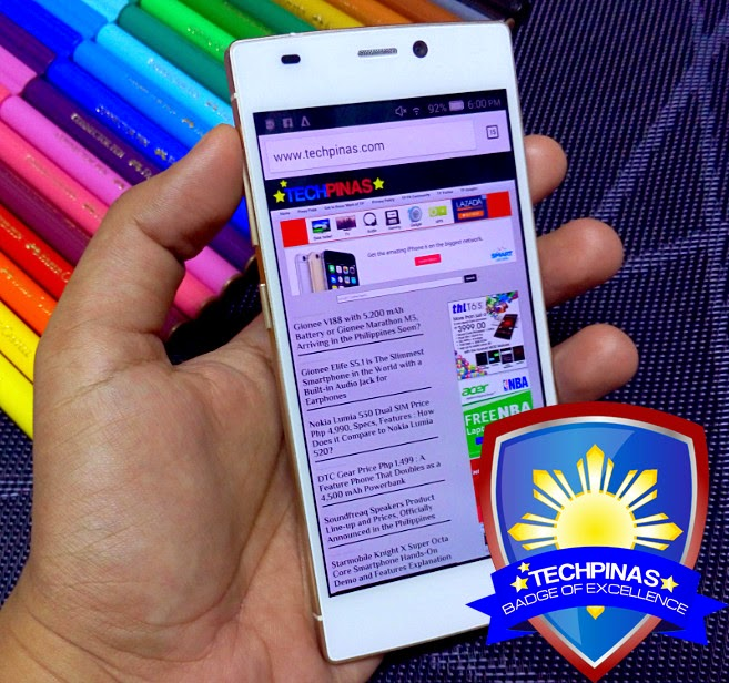 Gionee Elife S5.5, Gionee Elife S5.5 Philippines, TechPinas Badge of Excellence