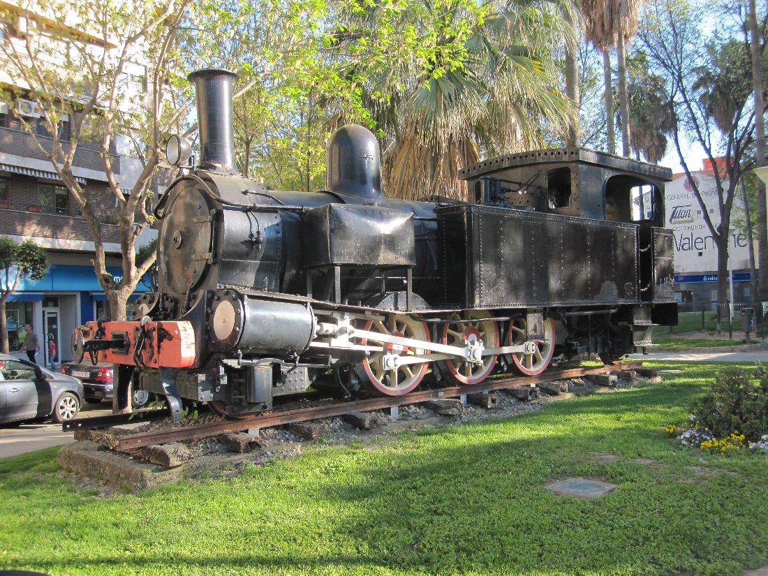 Locomotora número 7, Cocentaina, situada front el Parc de l'Estació de Gandia
