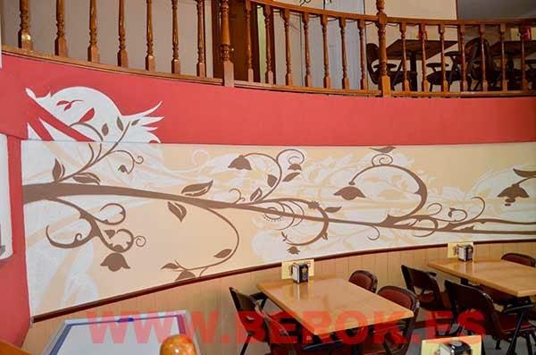 Murales florales artísticos