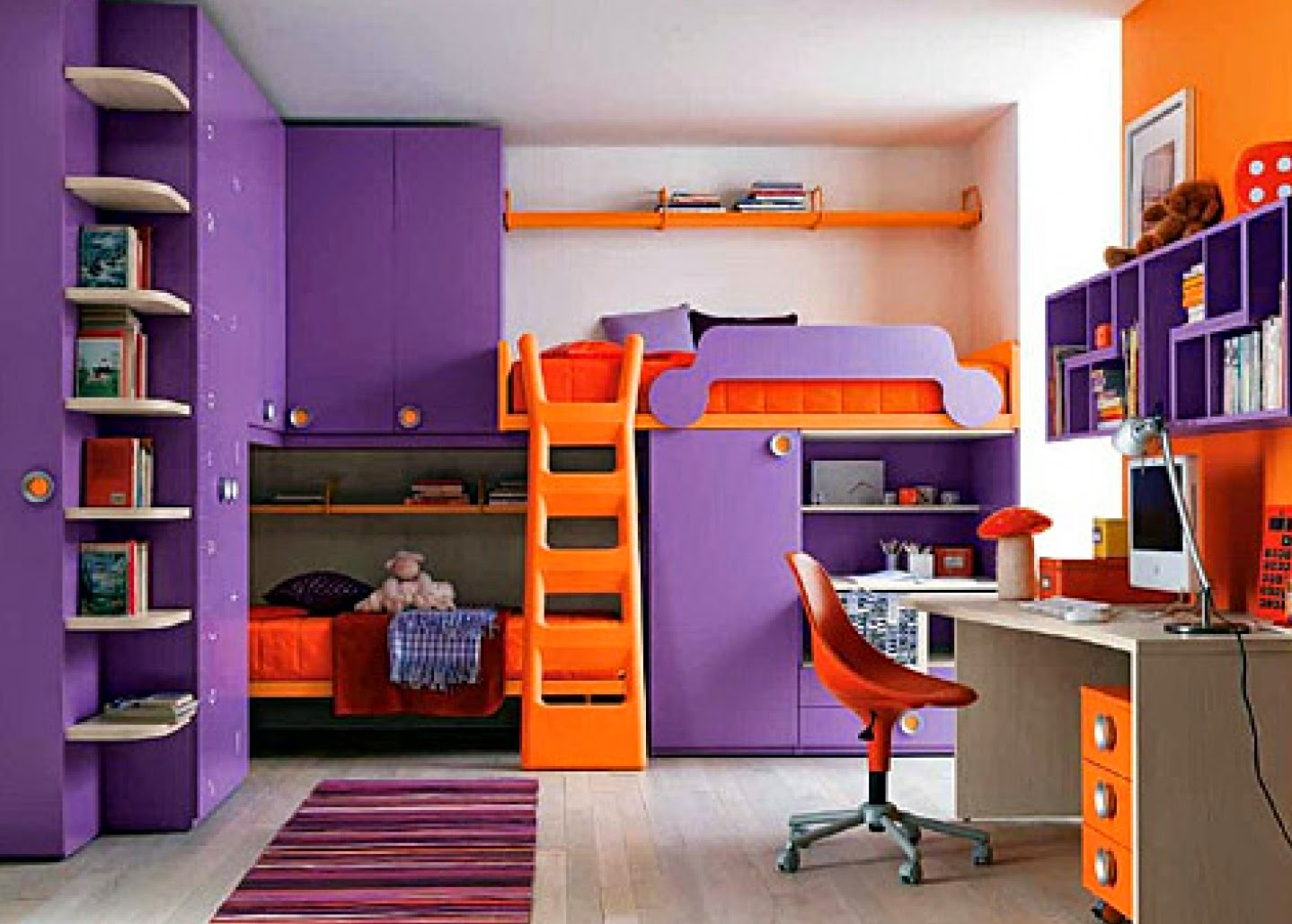 Purple Childrens Bedrooms Girls Bedroom Ideas