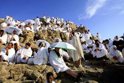 صورة رائعة للحجيج علي جبل عرفات :)