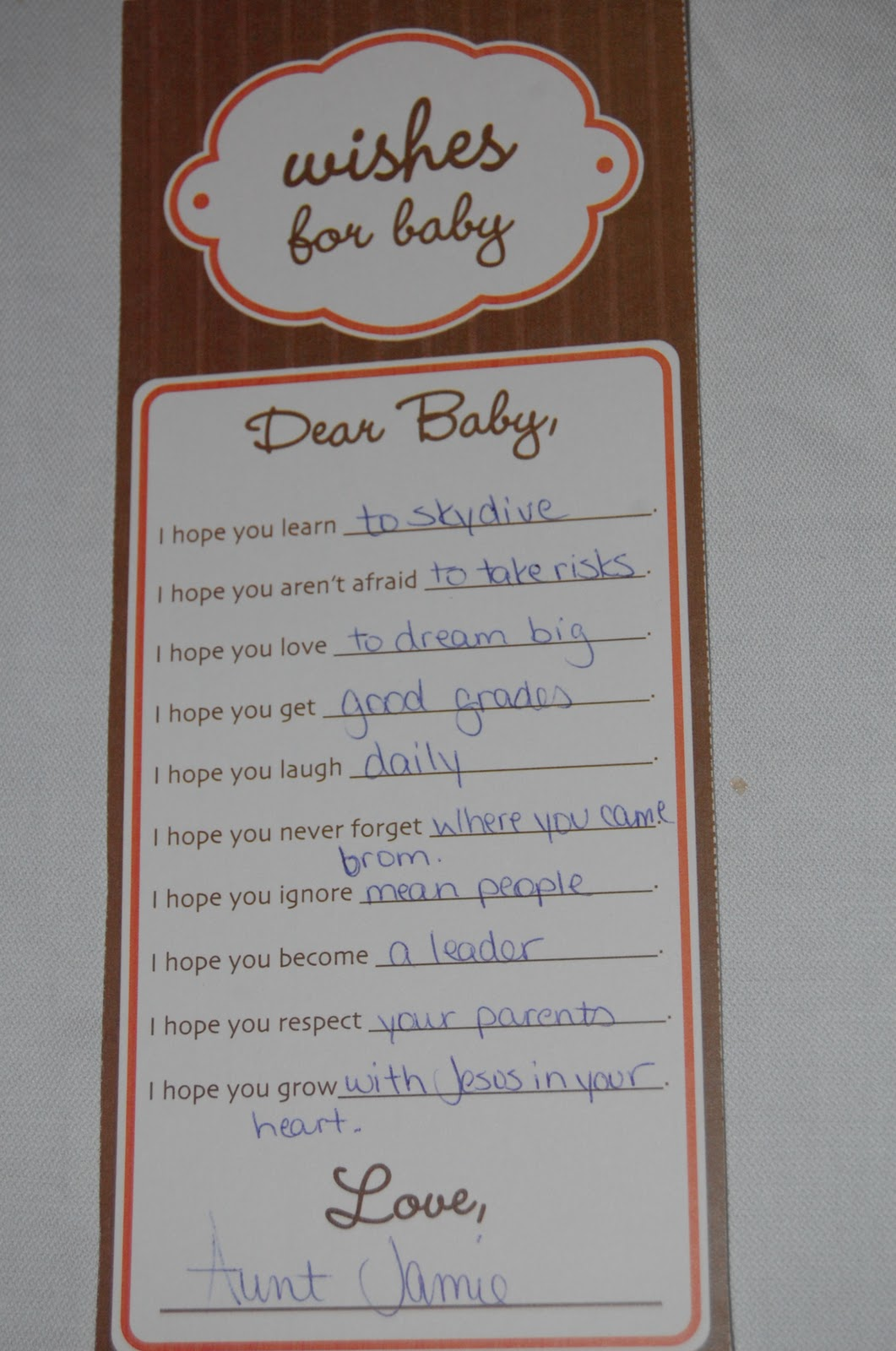Wishes for baby - - When life as you know it doesn't work ...