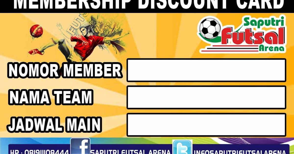 Kartu Member Saputri Futsal Percetakan Ochydartcom