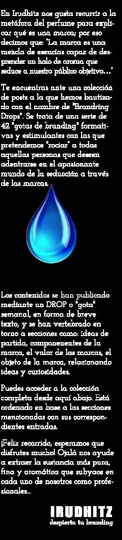 Colección Branding Drops de IRUDHITZ