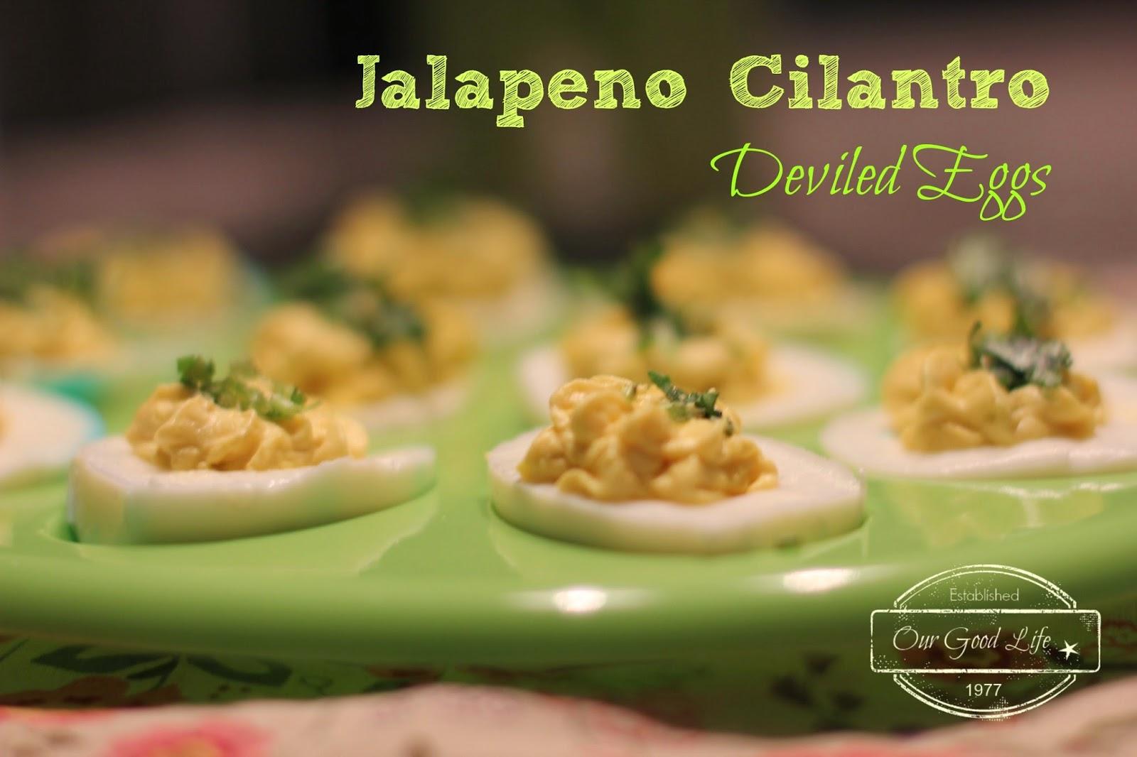 Jalapeno Cliantro Eggs