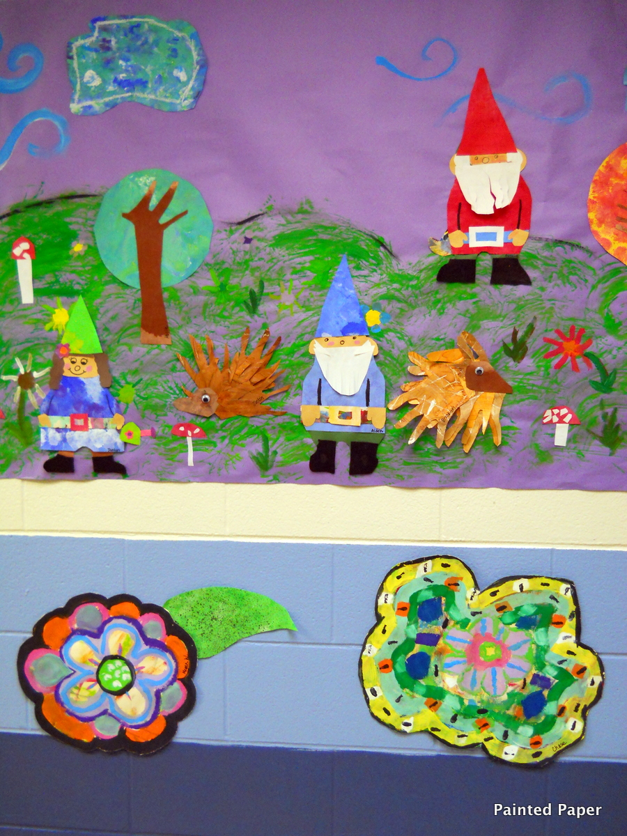 Painted paper art show part two murals and more for Fairy tale mural