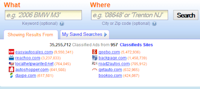 classified site search engine