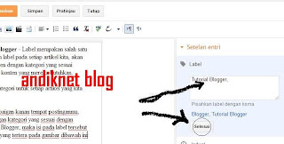 Cara Membuat Label atau Kategori di Postingan Blog