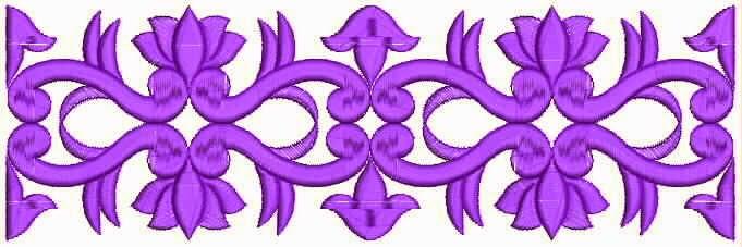 pers kleur blom borduurwerk kant grens