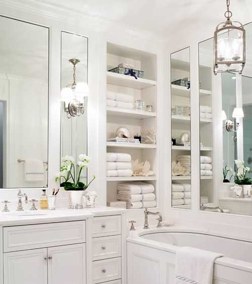 Pure design white on white bathroom ideas modern house for All white bathroom designs