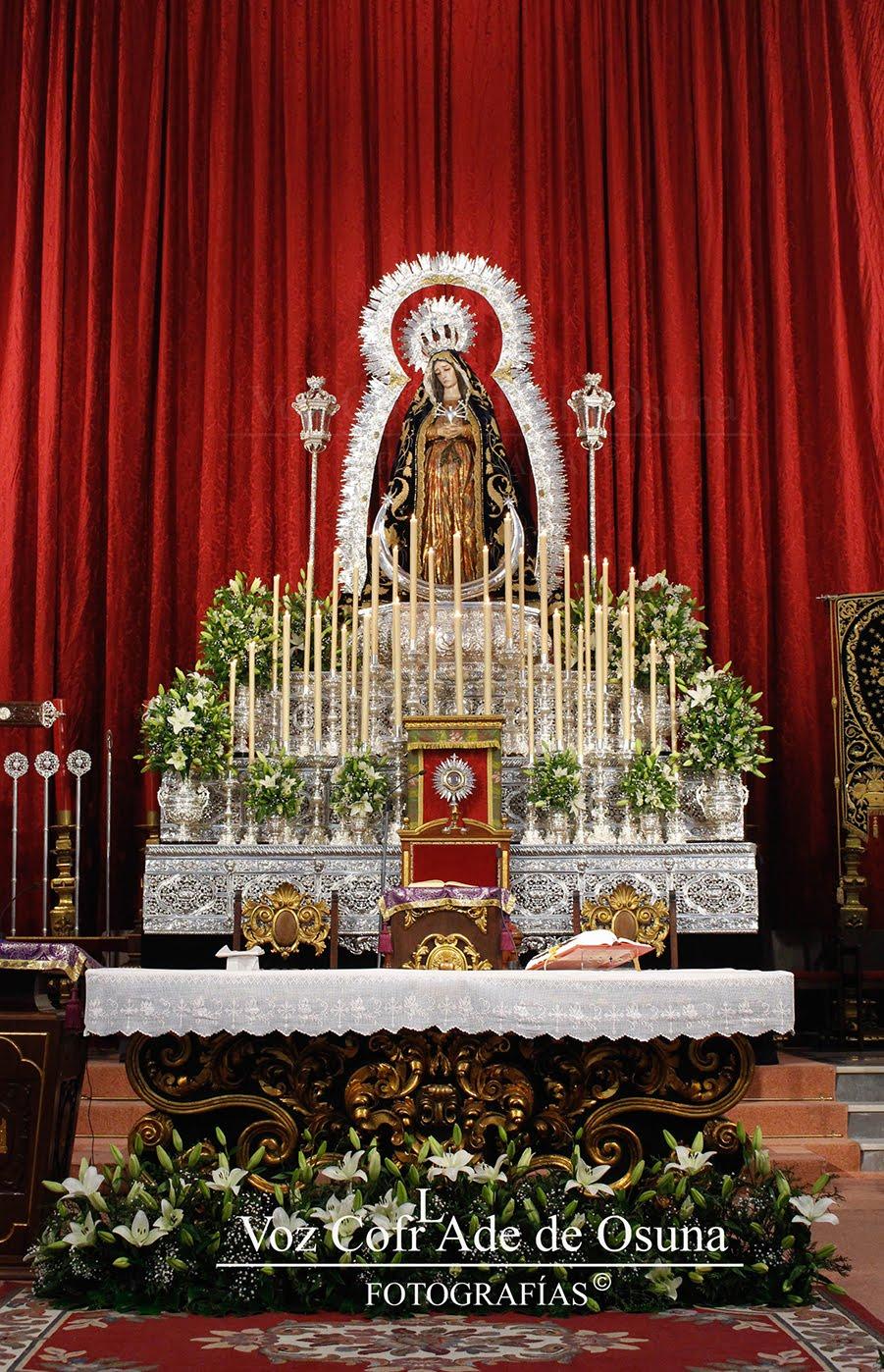 Altar de Cultos, Hermandad Servita de Ntra. Sra. y Madre de los Dolores 2017