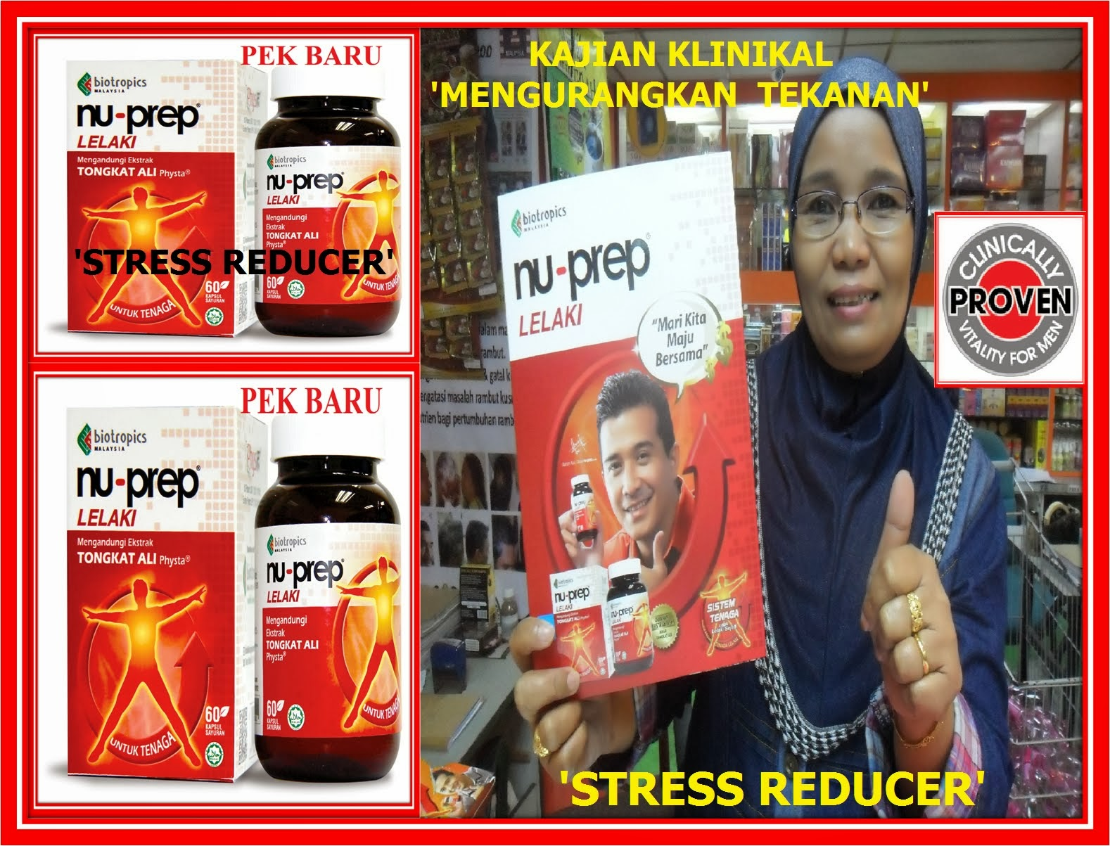 Kajian Klinikal Bukti Untuk Pengguna Bijak 'Clinically proven ' STRESS REDUCER'