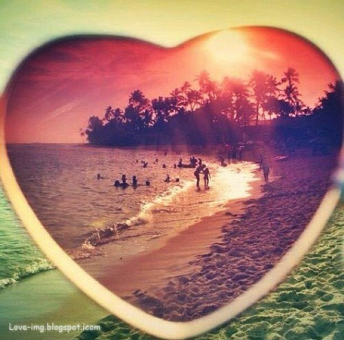 Love Heart | Lovely Beach view through Heart
