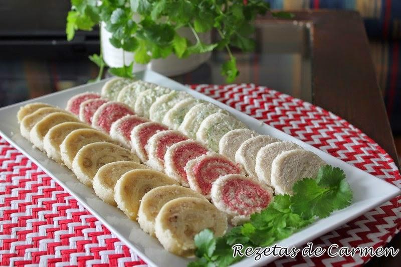 pinchos frios con pan bimbo