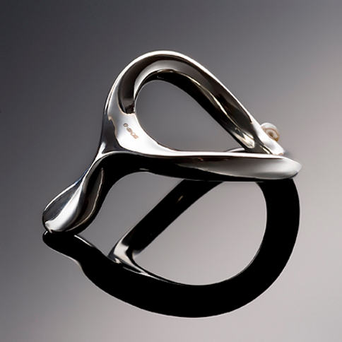 Fetish Accessorie - Velv'Or : Precious Metal CockRing With Pearl