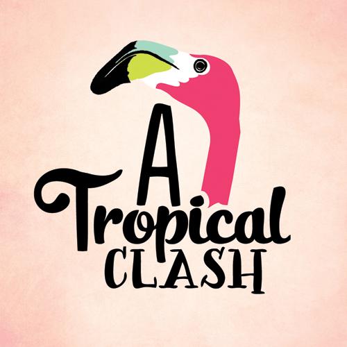 a tropical clash logo
