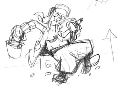 hard working mother carrying an armful of firewood sketch