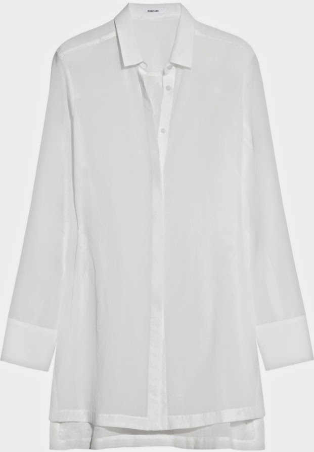 Camisa blanca de Helmut Lang