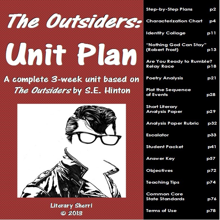 http://www.teacherspayteachers.com/Product/The-Outsiders-Complete-Unit-for-Middle-School-Grades-7-9-465283