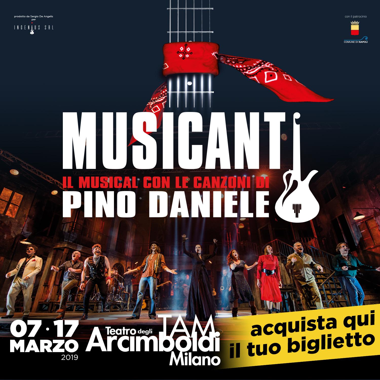 Musicanti, il musical con le canzoni di Pino Daniele