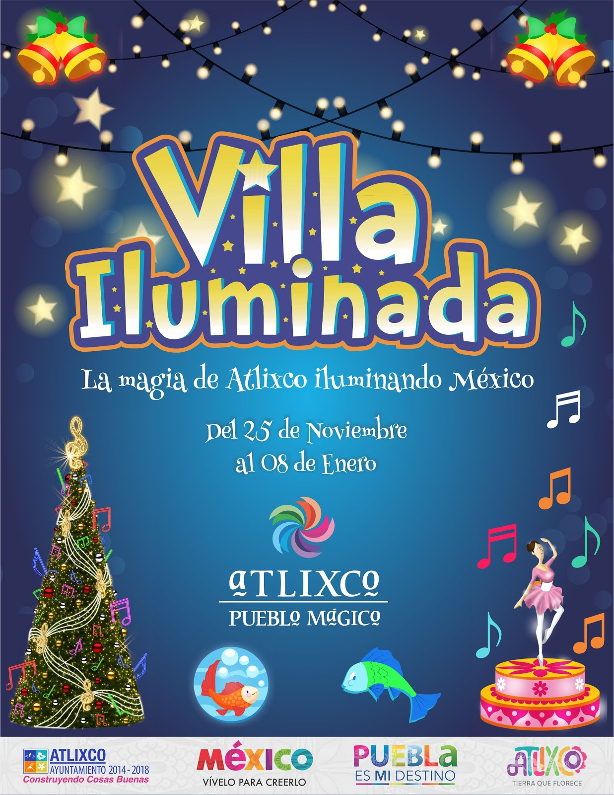 Villa Iluminada, Atlixco 2016