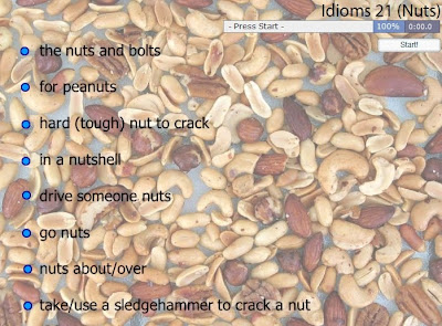 CLIL EFL ESL ELL ELT ESOL TEFL Resources, Games & Activities: Nuts Idioms