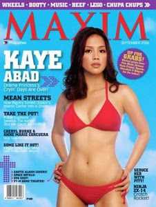 Kaye Abad Maxim September 2006 cover