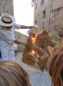 Alain GIRELLI, Photos de sa PERFORMANCE « Lettriste Enflammée » aux Senteurs de Cade