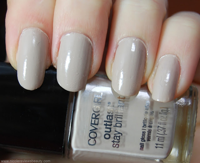 CoverGirl Outlast Stay Brilliant Nail Gloss, Always Naked 200 Review and Swatches