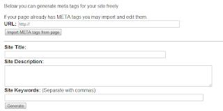 Online Meta Tag Generator Tools