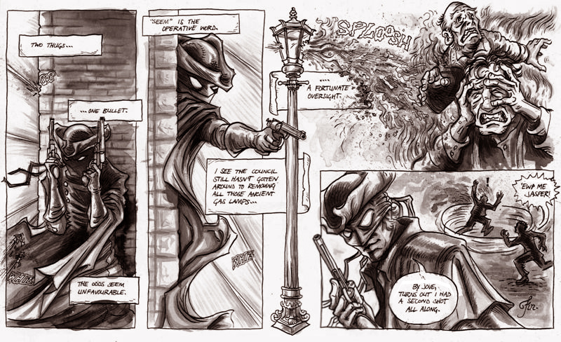 peppered-moth highwayman gaslight shooting ladies gentlemen comic