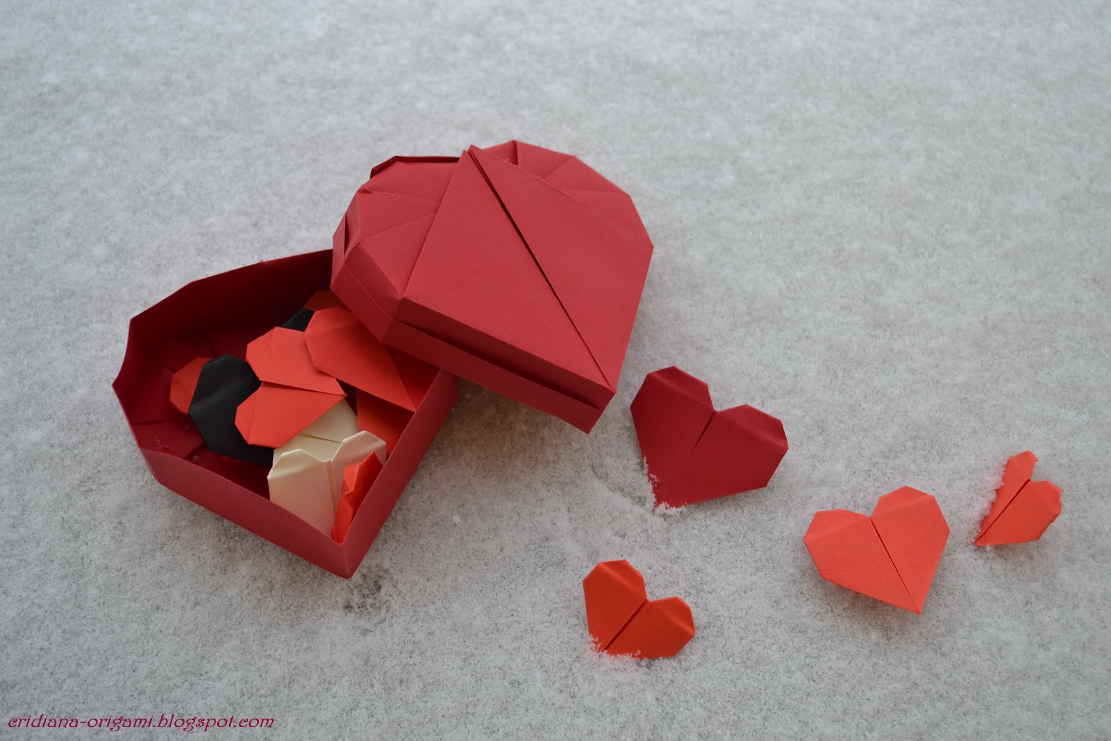 how to make a origami box heart