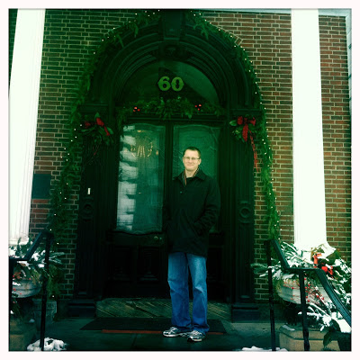 Brian at Hower House Front Door