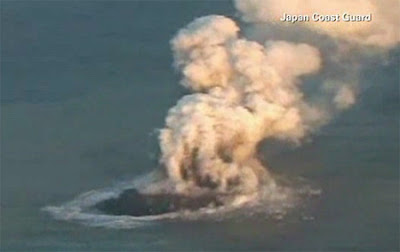 Japan New Island after volcanic eruption