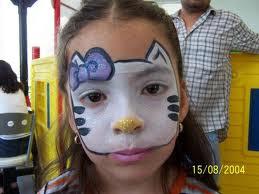 CARITA PINTADA DE HELLO KITTY pintarcaritas.blogspot.com