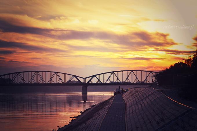 zdjęcie, mostu, w Toruniu