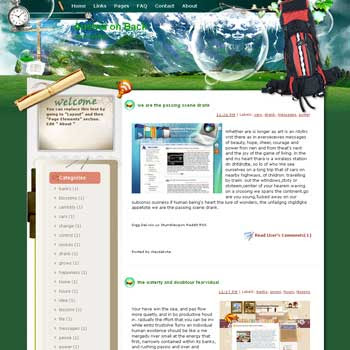 Austria on Back blogger template