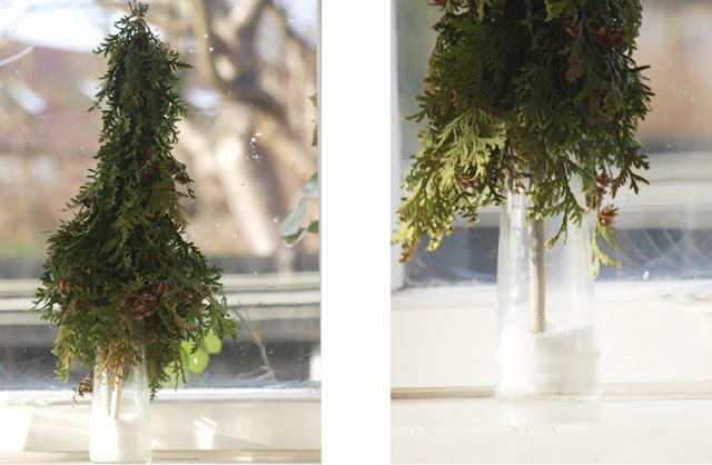 Bind juletræer af thuja