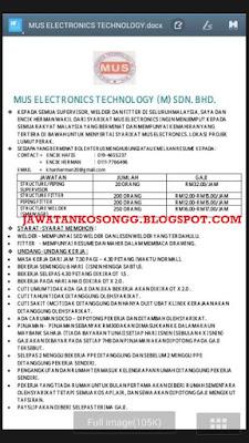 Peluang Kerjaya Mus Elektronik Teknologi Johor