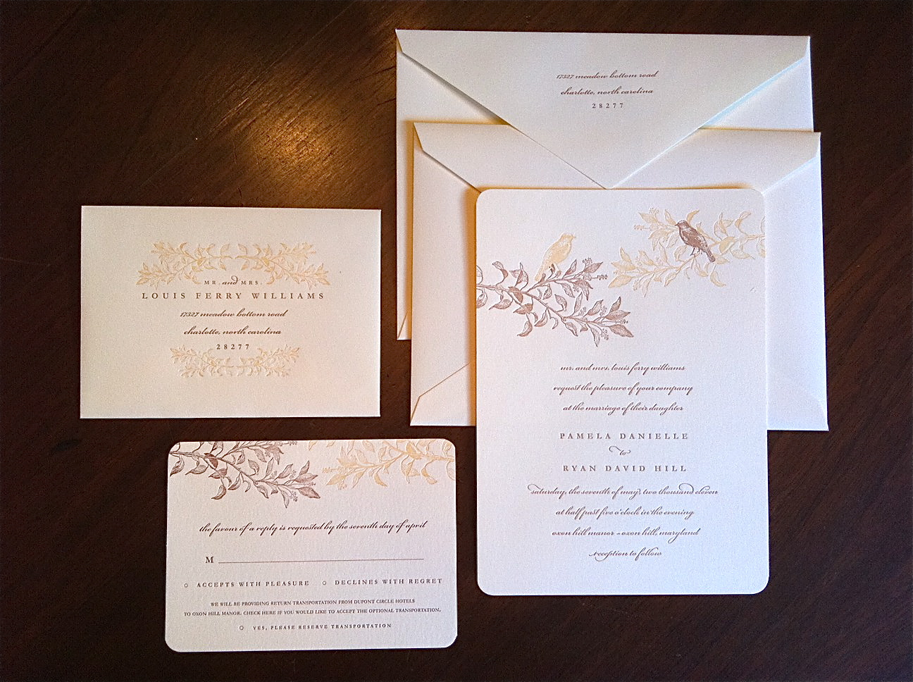 Branches and Birds Wedding Invitations { Letterpress } { Savannah ...